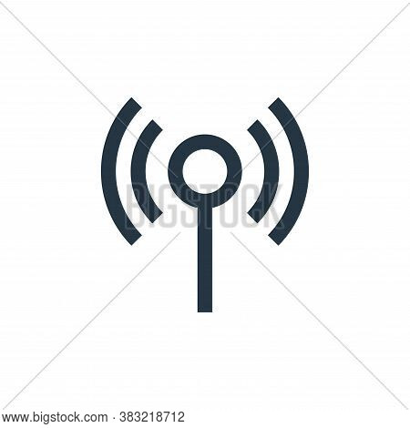 wifi signal icon isolated on white background from network collection. wifi signal icon trendy and m