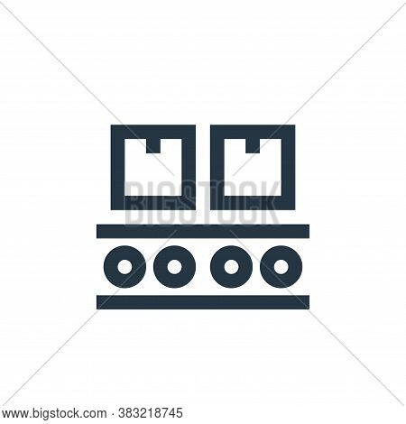 conveyor belt icon isolated on white background from industry collection. conveyor belt icon trendy