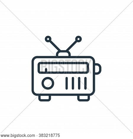 radio icon isolated on white background from news and journal collection. radio icon trendy and mode