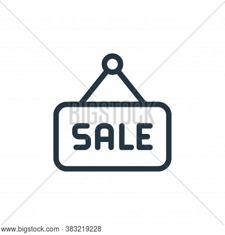 sale icon isolated on white background from ecommerce shopping collection. sale icon trendy and mode