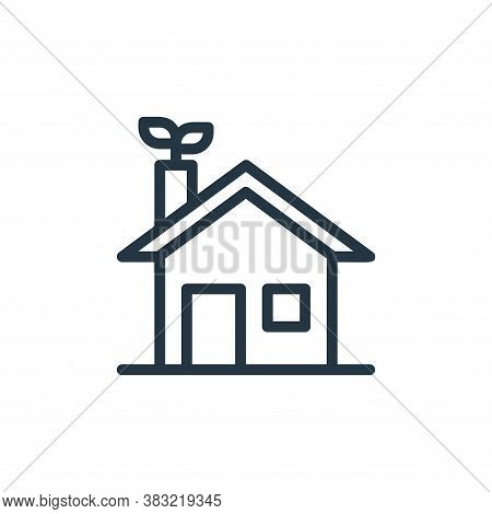 eco house icon isolated on white background from ecology line collection. eco house icon trendy and