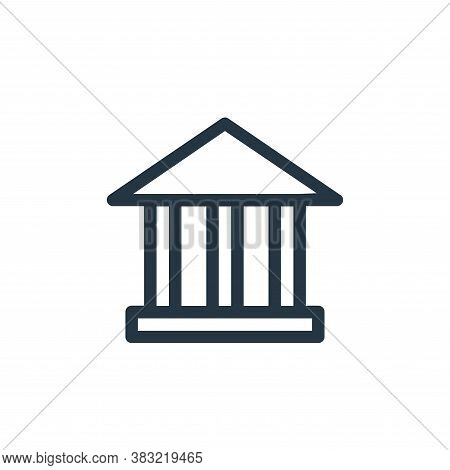 bank icon isolated on white background from finance bank collection. bank icon trendy and modern ban
