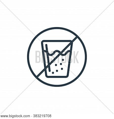 no drinks icon isolated on white background from ramadan collection. no drinks icon trendy and moder
