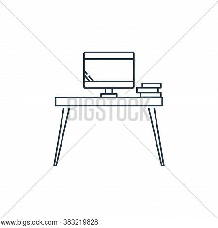tv table icon isolated on white background from household collection. tv table icon trendy and moder