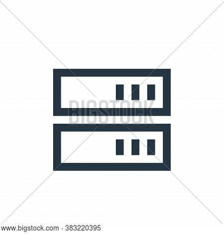 servers icon isolated on white background from network collection. servers icon trendy and modern se