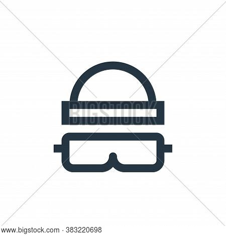ski goggles icon isolated on white background from sports collection. ski goggles icon trendy and mo