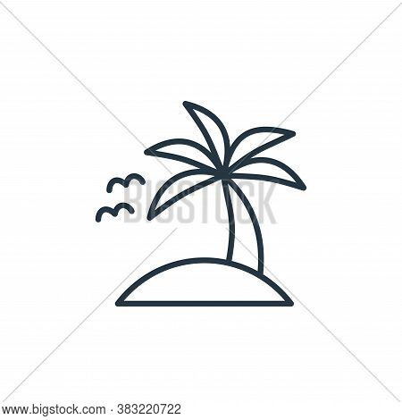 island icon isolated on white background from travel collection. island icon trendy and modern islan