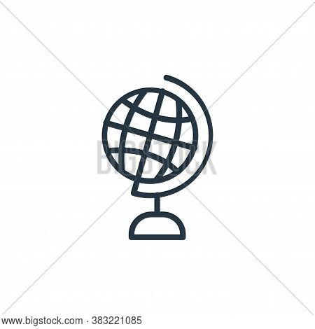 globe icon isolated on white background from school and education line collection. globe icon trendy