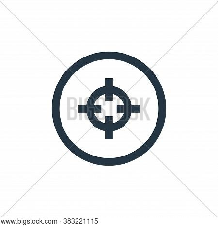 shooting target icon isolated on white background from sports collection. shooting target icon trend