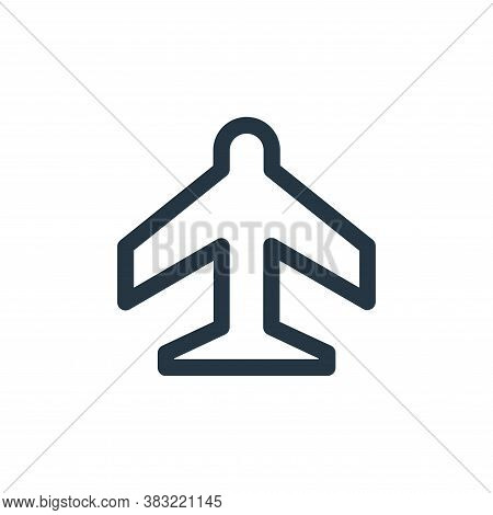 airport icon isolated on white background from smartphone ui ux part collection. airport icon trendy