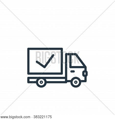 delivery icon isolated on white background from shopping and ecomerce collection. delivery icon tren