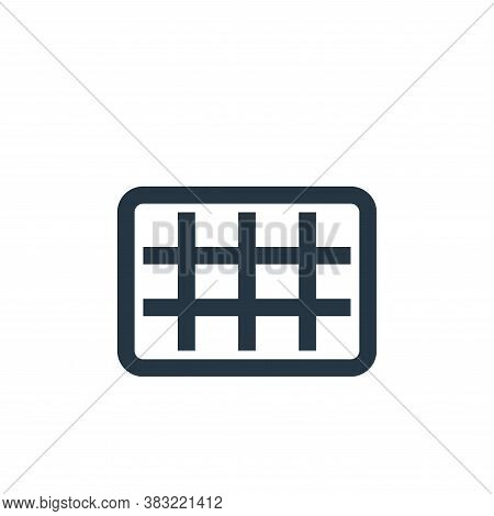 rule of thirds icon isolated on white background from photography collection. rule of thirds icon tr