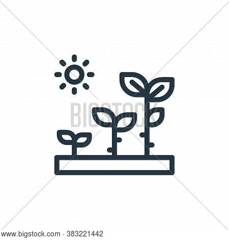 growth icon isolated on white background from ecology line collection. growth icon trendy and modern