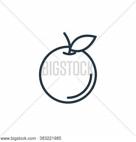 orange icon isolated on white background from food collection. orange icon trendy and modern orange
