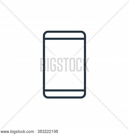 smartphone icon isolated on white background from smart devices collection. smartphone icon trendy a