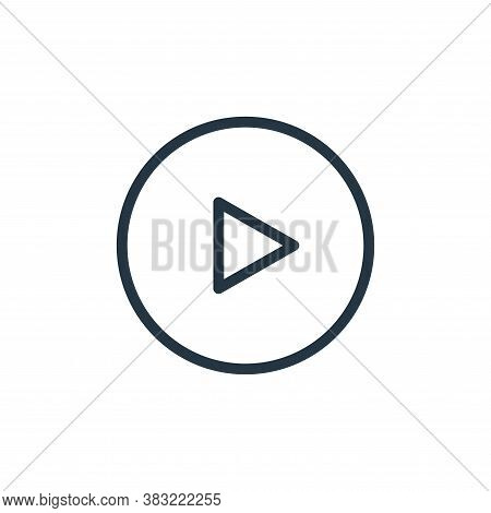 play icon isolated on white background from media player collection. play icon trendy and modern pla