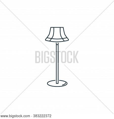 floor lamp icon isolated on white background from household collection. floor lamp icon trendy and m