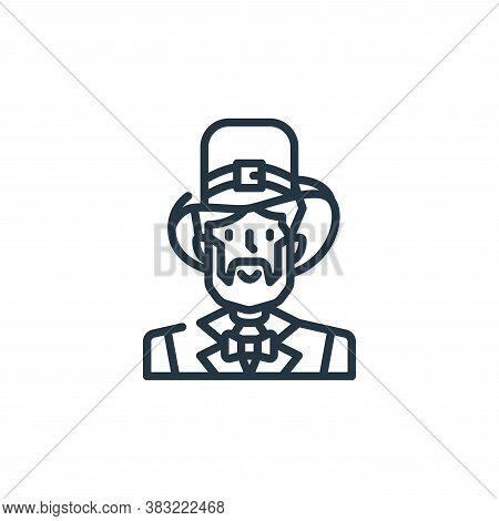 leprechaun icon isolated on white background from st patricks day collection. leprechaun icon trendy