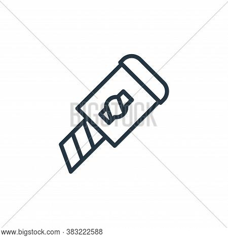 cutter icon isolated on white background from school and education line collection. cutter icon tren