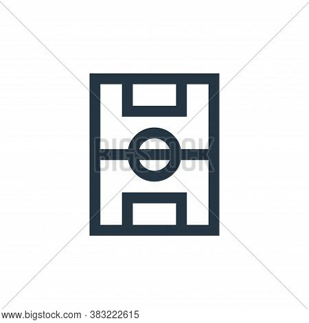 soccer fields icon isolated on white background from sports collection. soccer fields icon trendy an