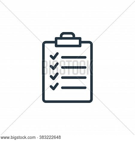 list icon isolated on white background from shopping and ecomerce collection. list icon trendy and m