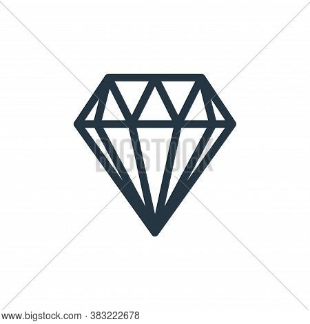 diamond icon isolated on white background from shopping collection. diamond icon trendy and modern d