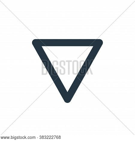 down arrow icon isolated on white background from user interface collection. down arrow icon trendy