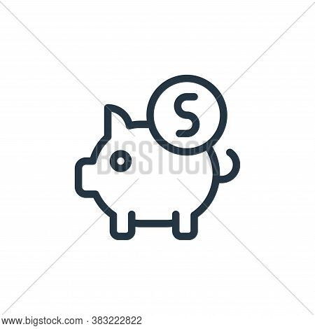 money box icon isolated on white background from old age collection. money box icon trendy and moder