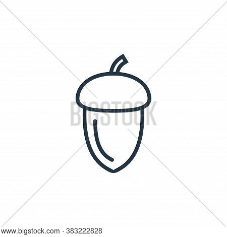 acorn icon isolated on white background from food collection. acorn icon trendy and modern acorn sym