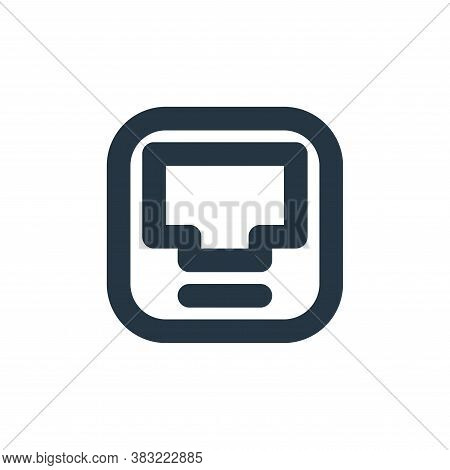 inbox icon isolated on white background from email collection. inbox icon trendy and modern inbox sy