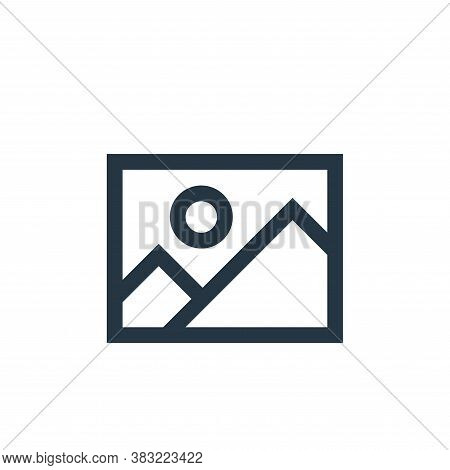 image file icon isolated on white background from photography collection. image file icon trendy and