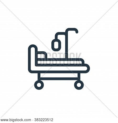 hospital bed icon isolated on white background from old age collection. hospital bed icon trendy and