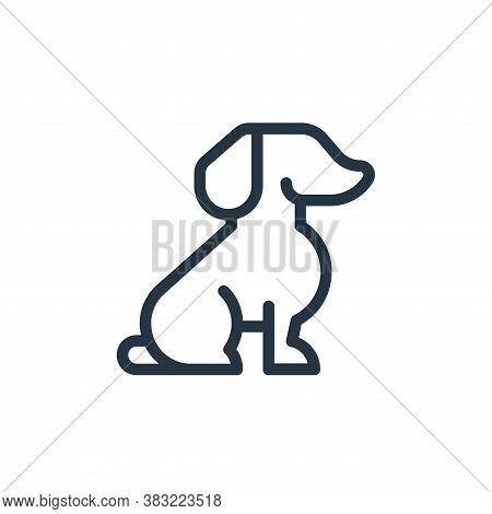 dog icon isolated on white background from old age collection. dog icon trendy and modern dog symbol