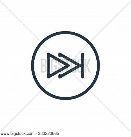 last track icon isolated on white background from media player collection. last track icon trendy an