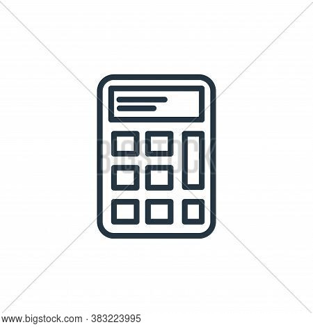 calculator icon isolated on white background from school and education line collection. calculator i
