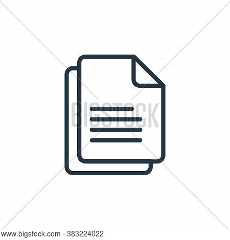 sheets icon isolated on white background from school and education line collection. sheets icon tren