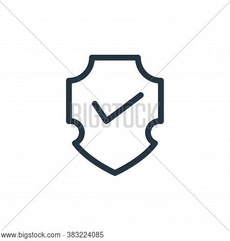shield icon isolated on white background from marketing and entertainment collection. shield icon tr