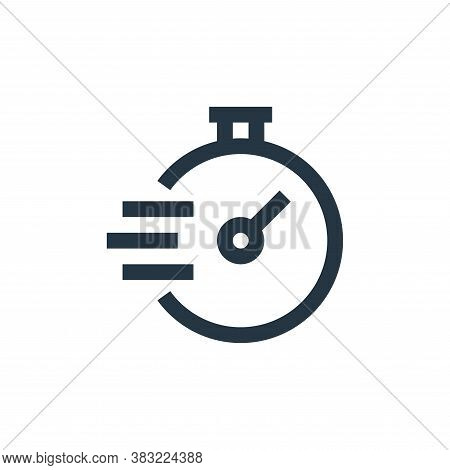 speedometer icon isolated on white background from marketing collection. speedometer icon trendy and