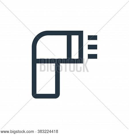 flash icon isolated on white background from photography collection. flash icon trendy and modern fl