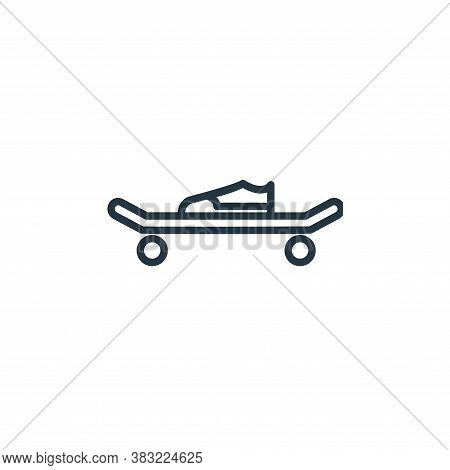 skateboard icon isolated on white background from sport collection. skateboard icon trendy and moder