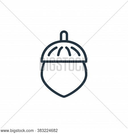 acorn icon isolated on white background from spring collection. acorn icon trendy and modern acorn s