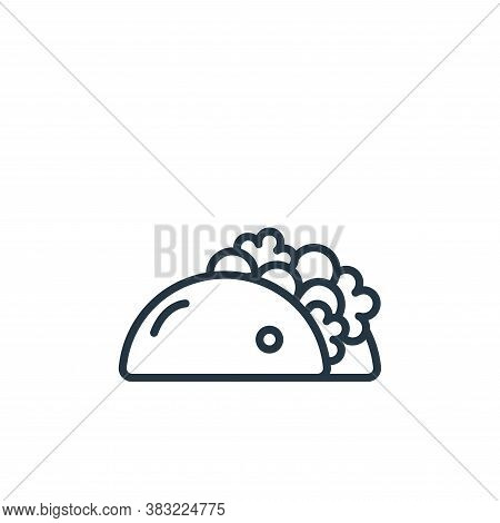 tortilla icon isolated on white background from food collection. tortilla icon trendy and modern tor