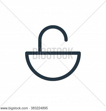 unlock icon isolated on white background from smartphone ui ux part collection. unlock icon trendy a