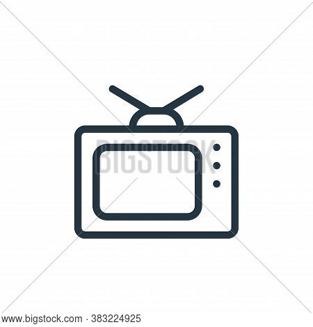 television icon isolated on white background from old age collection. television icon trendy and mod