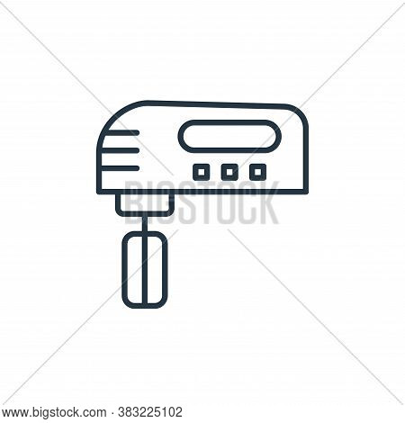 mixer icon isolated on white background from kitchen collection. mixer icon trendy and modern mixer