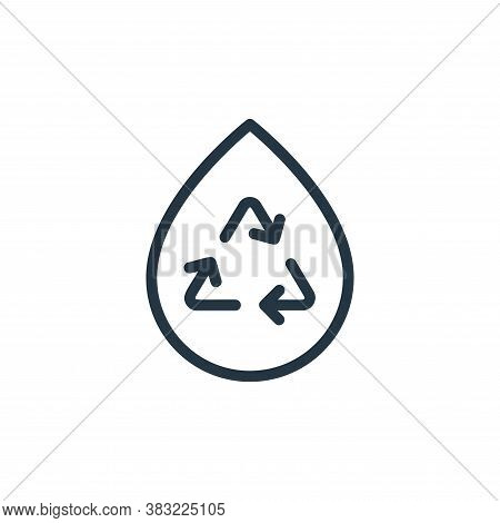 water icon isolated on white background from ecology line collection. water icon trendy and modern w