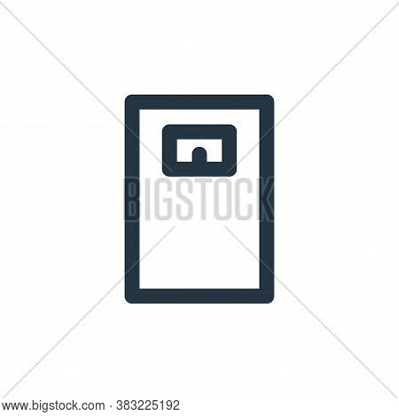 scale icon isolated on white background from fitness collection. scale icon trendy and modern scale