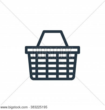 basket icon isolated on white background from shopping collection. basket icon trendy and modern bas