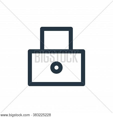 secure icon isolated on white background from finance bank collection. secure icon trendy and modern