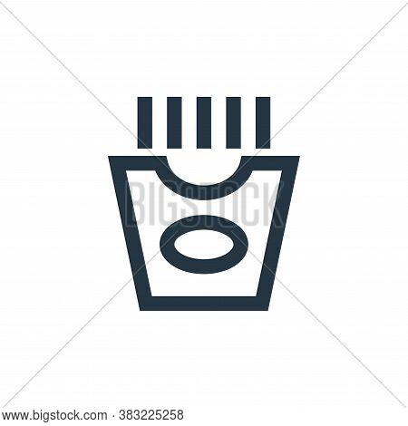 french fries icon isolated on white background from restaurant collection. french fries icon trendy